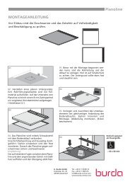 Planoline MONTAGEANLEITUNG - Herbert Burda GmbH