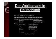 Der Werbemarkt in Deutschland - Friedrich-Schiller-Universität Jena
