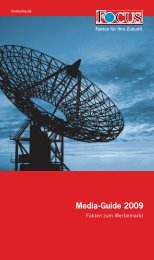 FOCUS Media-Guide 2009 - FOCUS MediaLine