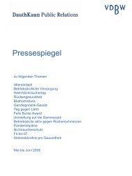 Pressespiegel - Verband Deutscher Betriebs- und Werksärzte e.V.