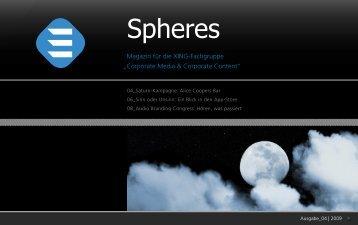 Spheres 04 2009 | 4iMEDIA Agenturgruppe für journalistische ...