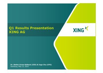 Q1 Results Presentation XING AG