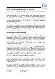 Zweites Treffen des Clusterboards Druck und Printmedien