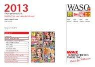 WASO Kombi 2013.indd - WAZ Zeitschriften Marketing