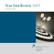 Year End Review 2007 - goetzpartners.com