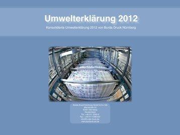 Umwelterklärung 2012 - Burda Druck