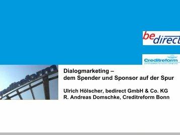Dialogmarketing – dem Spender und Sponsor auf der Spur