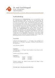Symbioselenkung - Kinderarztpraxis Dr. med. Gerd Wiegand