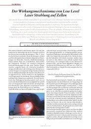 Der Wirkungsmechanismus von Low Level Laser ... - Dr Wilden