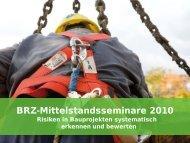 Grundsätzliches zu dieser PowerPoint-Vorlage - BRZ Seminare 2011