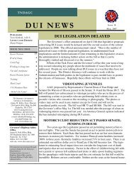 dui legislation delayed - Tennessee Traffic Safety Resource ...