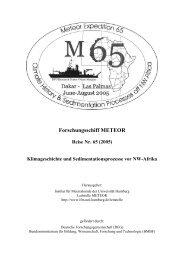 Forschungsschiff METEOR - Institute of Oceanography, University of ...