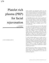 Platelet rich plasma (PRP) for facial rejuvenation - Dr. Zenker ...