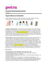 Petra Online Okt.  2011 - Dr. Zenker Dermatologie
