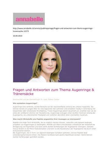 Annabelle Aug. 2010 - Dr. Zenker Dermatologie