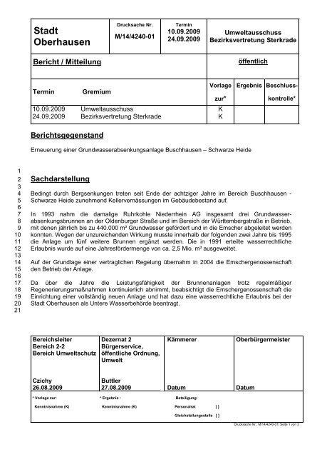 Stadt Oberhausen - Website von Karl-Heinz Emmerich