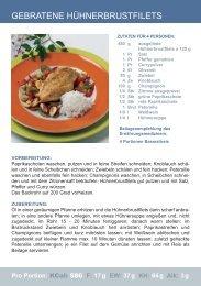 GEBRATENE HÜHNERBRUSTFILETS - Premium