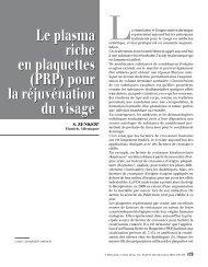Le plasma riche en plaquettes (PRP) pour la ... - My-cells.net