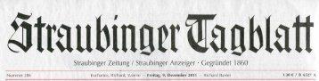 Straubinger Tagblatt Dec. 2011 - Dr. Zenker Dermatologie