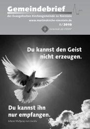 Heiliger Geist: Proviant für den Alltag - Evangelische ...