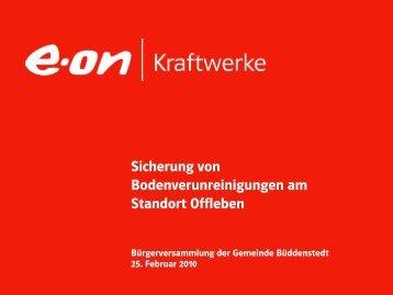 3) Sicherung der Bodenverunreinigung - E.ON-Kraftwerk Buschhaus