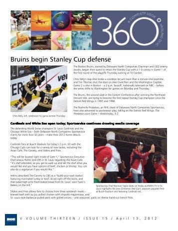 Bruins begin Stanley Cup defense - Delaware North