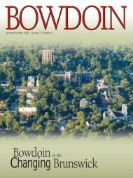 Bowdoin Changing Brunswick - Bowdoin College
