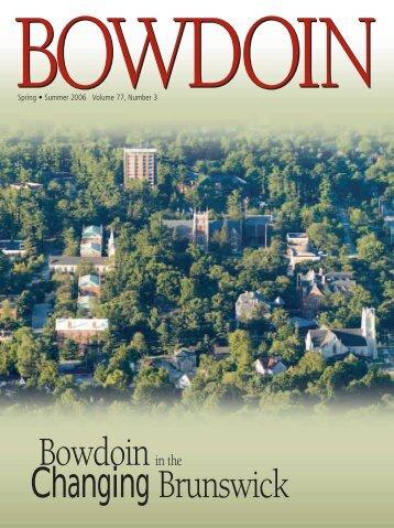Bowdoin Changing Brunswick - Bowdoin College