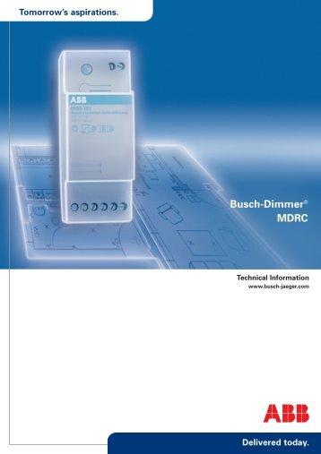 Busch-Dimmer® MDRC - Busch-Jaeger Elektro GmbH