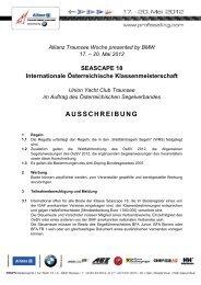 Allianz Traunsee Woche presented by BMW 17. – 20. Mai 2012
