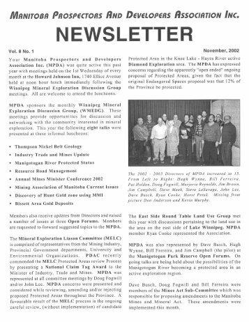 2002 Newsletter - MPDA