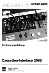 Cassetten-Interface 2095 - Busch