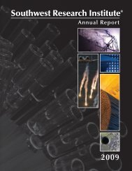 Annual Report - Southwest Research Institute