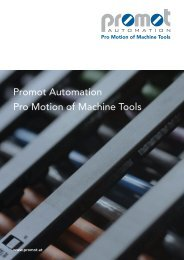 Promot Automation Pro Motion of Machine Tools