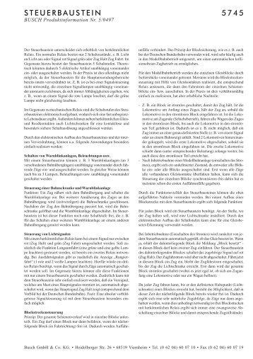 STEUERBAUSTEIN 5745 - NSE Software