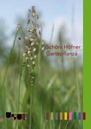 Flyer einheimische Pflanzen - Arten ohne Grenzen