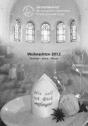 Weihnachten 2012 - Evangelisch im Königswinkel