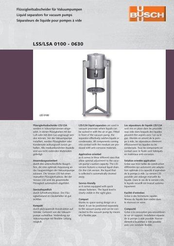 LSS/LSA 0100 - 0630 - Ing. K. Busch GmbH