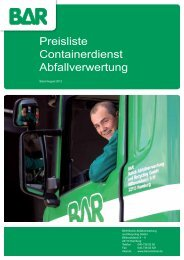 Preisliste Abfallentsorgung (Containerdienst)