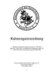 Rahmengartenordnung - Kreisverbandes der Gartenfreunde ...