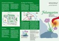 Faltblatt Felsengarten Werkmannhaus - Landesverband Baden ...