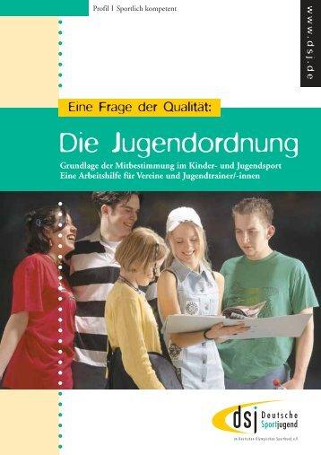 Die Jugendordnung - Deutsche Sportjugend