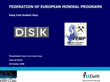 FEDERATION OF EUROPEAN MINERAL PROGRAMS