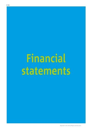 Balance sheet and income statement - Annual Report 2011