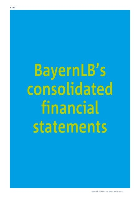 BayernLB's consolidated financial statements - Annual Report 2011