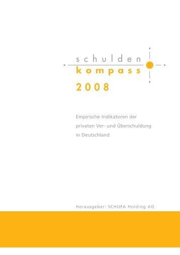 SCHUFA Schulden-Kompass 2008 - SCHUFA-Kredit-Kompass.de