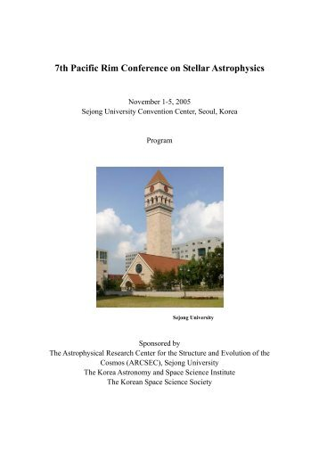 7th Pacific Rim Conference on Stellar Astrophysics