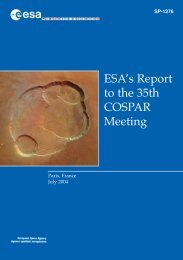 ESA's Report to the 35th COSPAR Meeting