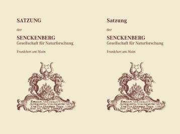 Satzung - Senckenberg Museum