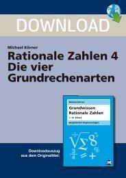 Rationale Zahlen 4 Die vier Grundrechenarten - Netzwerk Lernen
